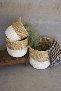 WHITE DIPPED SEAGRASS HAMPERS