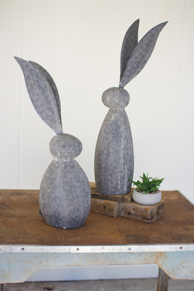 FAUX STONE RABBIT