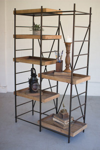 IRON SHELVING UNIT