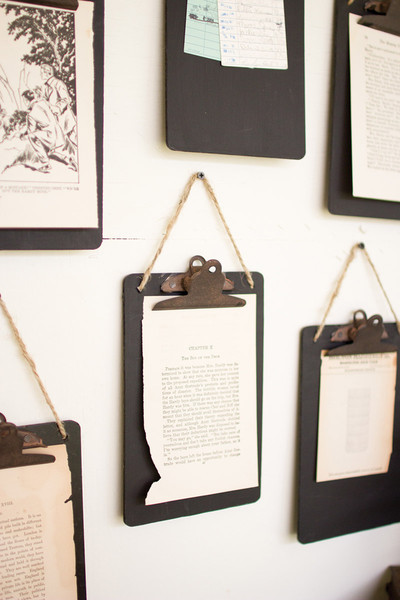 black clip board photo/notes holder