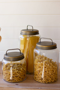 glass jars with metal lids