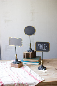 CHALK BOARDS ON STANDS