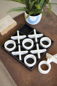 Large Wooden Tic-Tac-Toe Game