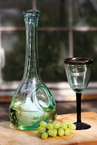 recycled wine chilling carafe