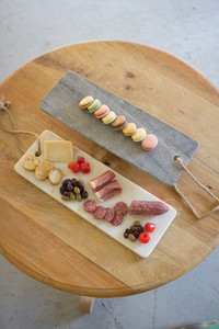 GREY MARBLE LONG CUTTING BOARD