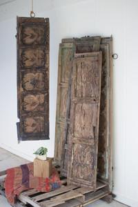 ANTIQUE WOODEN DOOR PANEL WALL ART