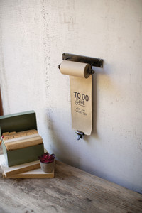 Hanging Note Roll with Brass Clip