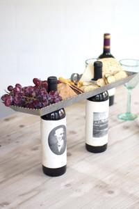 Galvanized Double Bottle Serving Topper