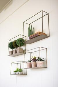 Set of 4 Metal Shelves