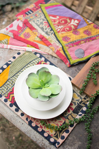 Set of 6 Recycled Kantha Place Mats