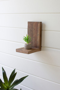 small recycled wood wall shelf