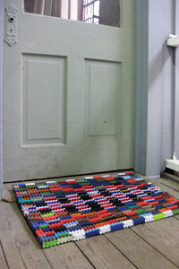 recycled flip flop mats - large