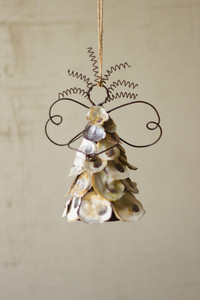 OYSTER SHELL ANGEL ORNAMENT